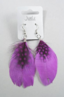 Feather drop earrings (Code 3163)